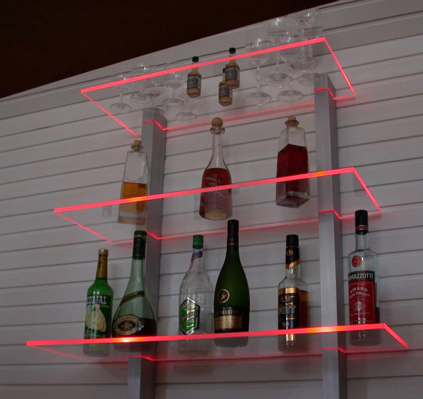bar regal led beleuchtet ideal f r flaschen oder gl ser ebay. Black Bedroom Furniture Sets. Home Design Ideas